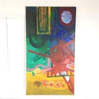 Modern Oil Painting on Canvas by R. Leepard #4