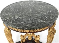 French Empire Style Marble Top Center Table