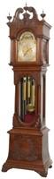 Tiffany & Co. Carved Oak 9 Tube Grandfather Clock