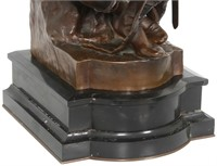 "F. Barbedienne Bronze ""Le Courage Militaire"""