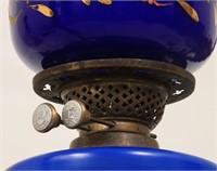 Enamel Decorated Cobalt Hanging Fixture