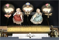 Swiss Animated 3 Bell Music Box with Dancing Dolls