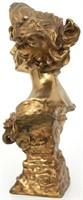 Francois Alphonse Piquemal Bronze Bust of a Woman