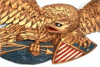 Gilt Carved American Eagle Wall Hanging