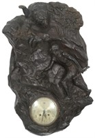 Bronze Chelsea Indian & Bear Clock