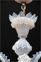 Opalescent Venetian glass 6 Light Chandelier