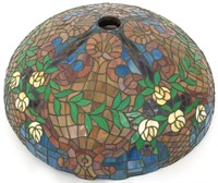 Gorham Leaded Floral 20 Inch Table Lamp