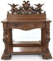 R.J. Horner Carved Oak Server