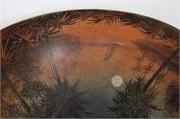 Handel Tropical 15 Inch Reverse Painted Table Lamp