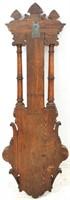 Carved Oak Wall Hanging Barometer