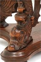 Dolphin Carved Oak Partners Desk