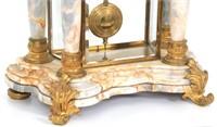 French Marble & Bronze Crystal Regulator