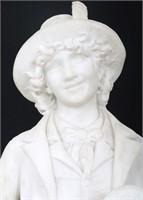 C. Lapini (Italian, 1848-1893) Marble Sculptures