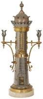 Architectural Tower Candelabra with Thermometer