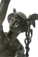 Large Giambologna Flying Mercury Bronze