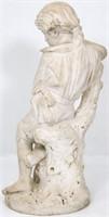 Pierre Barranti Marble Figure of a Boy