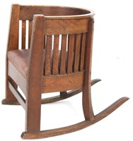 Plail Brothers Barrel-Back Rocker & Armchair