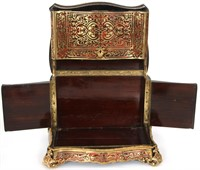 Rosewood Boulle & Brass Inlaid Tantalus Set