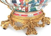 French Bronze Mounted Chinese Export Centerpiece