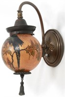 Rare Handel Parrot Ball Wall Sconce