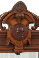 Walnut Renaissance Revival Fireplace Mantle