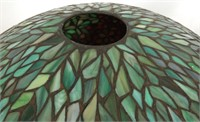 Unique Leaded 22 Inch Floral Table Lamp