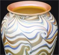 Durand King Tut  8 Inch Art Glass Vase