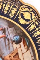 3 Sevres Hand Painted Porcelain Plates