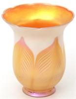 8 Iridescent Art Glass Shades
