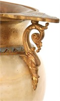Onyx, Gilt Bronze & Champleve Urn