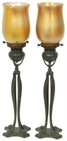 Tiffany Studios Candle Lamps with Shades