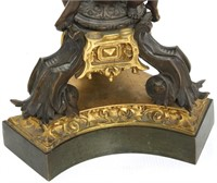 Pair of Figural Putti Bronze Candelabra