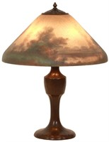 Handel Reverse Painted 18 Inch Table Lamp