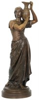 "Jean Gautherin Bronze ""Rebecca At The Well"""