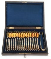 19 Piece Boxed French Sterling Silver Flatware