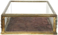 Heavy Gauge Bronze and Glass Countertop Showcase