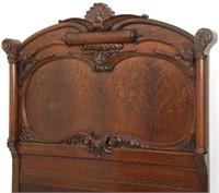 3 Piece Carved Oak Bedroom Set