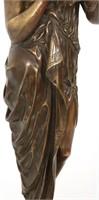 Emile L. Picault Bronze Sculpture of a Woman