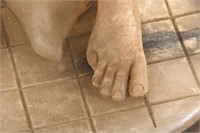 Carved Alabaster Deco Nude Sculpture