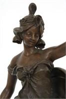 Standing Figural Oil Font Newel Lamp