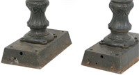 Pair of Cast Iron Drinking Fountains