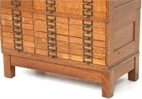 Oak Sectional File Cabinet