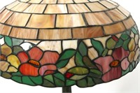 Wilkinson Leaded Floral 19 Inch Table Lamp