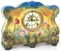 2 Ansonia Royal Bonn China Mantle Clocks