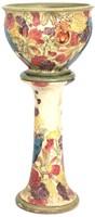 "Weller Pottery ""Parrots"" Jardiniere & Pedestal"