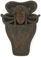 9 Art Nouveau Bronze Desk Set Pieces