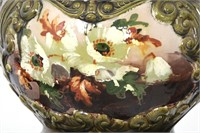 Large English Pottery Jardiniere & Pedestal