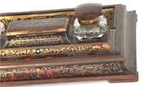 Asprey Boulle & Brass Inlaid Rosewood Inkstand