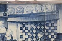 Delft 9 Tile Blue and White Interior Scene
