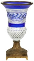 Russian Bronze Mounted Cut Glass Vase